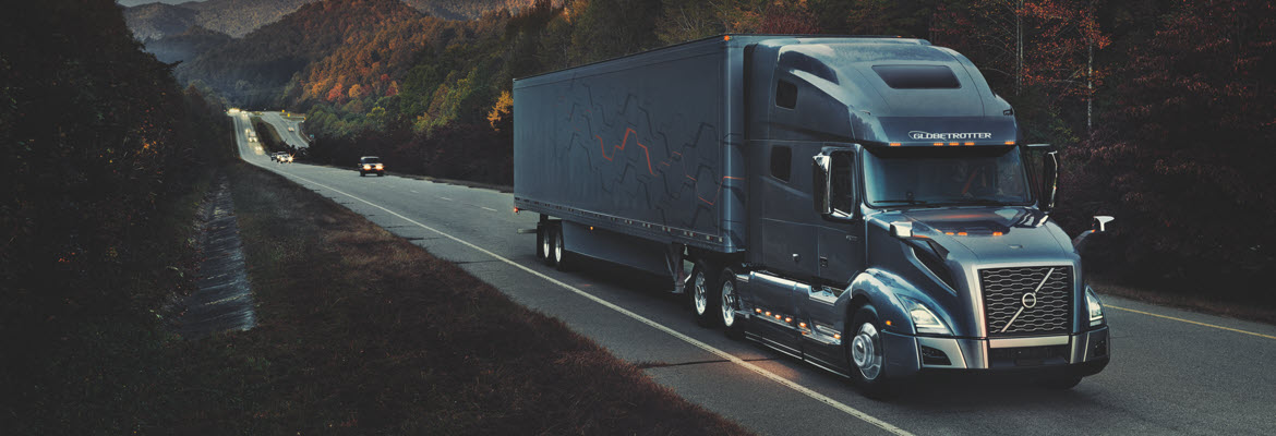 Volvo Trucks in a Highway