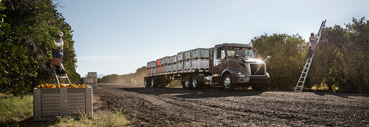 Volvo Truck at a fruit yard