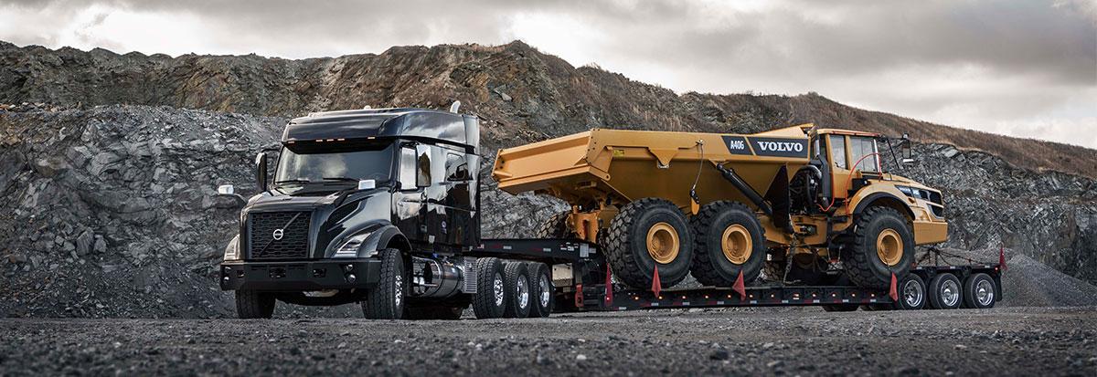 Volvo Trucks VNR carrying Volvo Hauler Header_Oversized