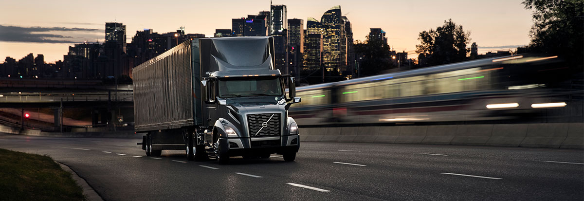 Volvo Trucks VNL with loaded container