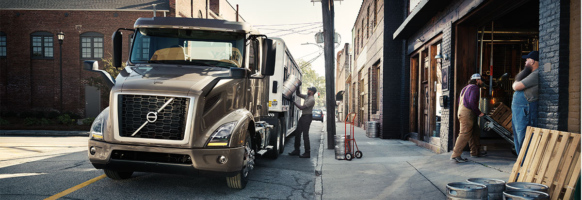Volvo Trucks VNR getting loaded with Food-Hero