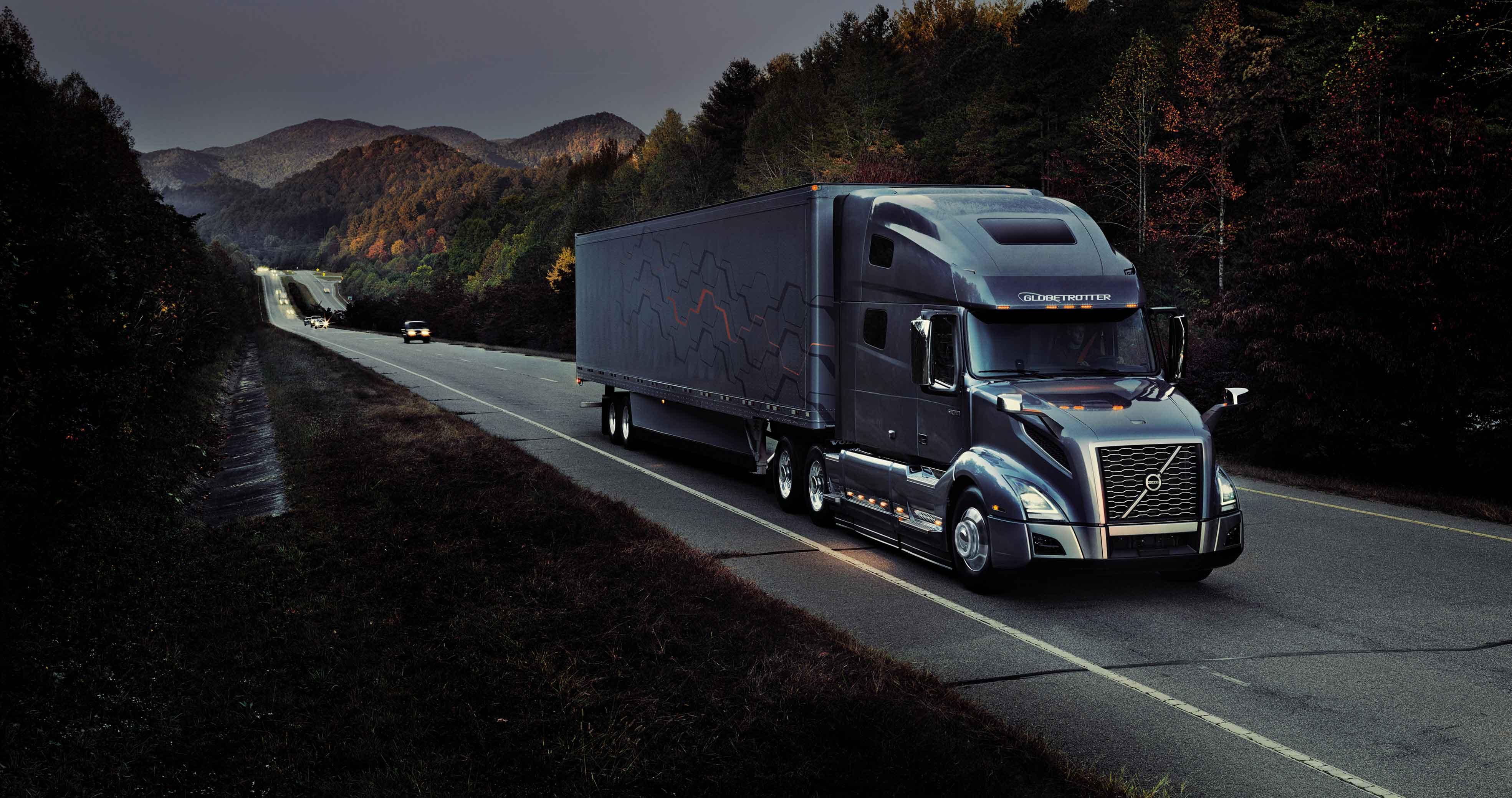 Volvo Truck at Highway
