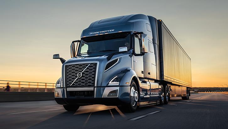 Volvo Trucks VNL during sunset