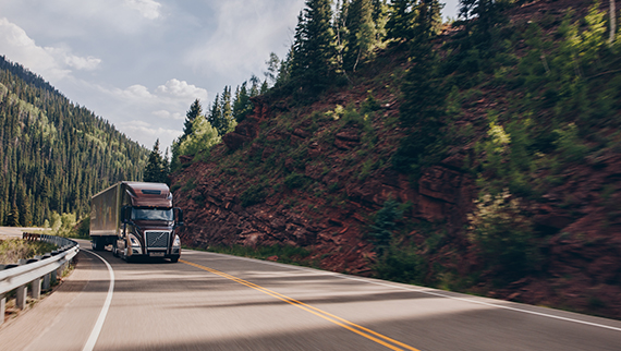 Volvo Trucks VNL on a mountain road