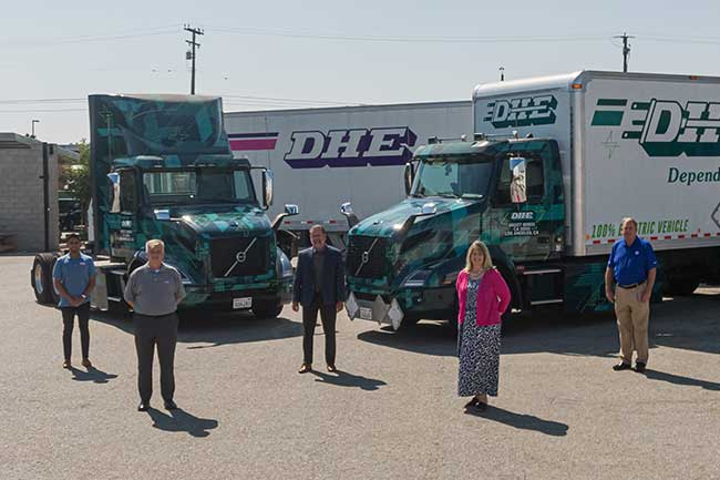 Volvo Trucks North America delivers first Volvo VNR Electric Class 8 trucks to customer Dependable Highway Express