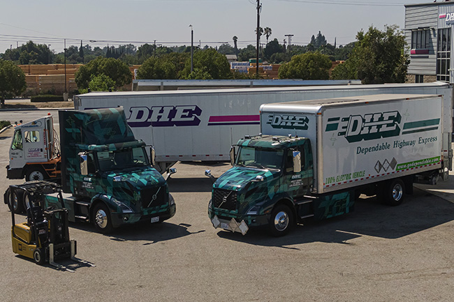Through the Volvo LIGHTS project, DHE introduced Volvo VNR Electric trucks